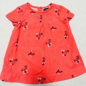 Baby Gap girls fine corduroy cherry dress   3-6 M